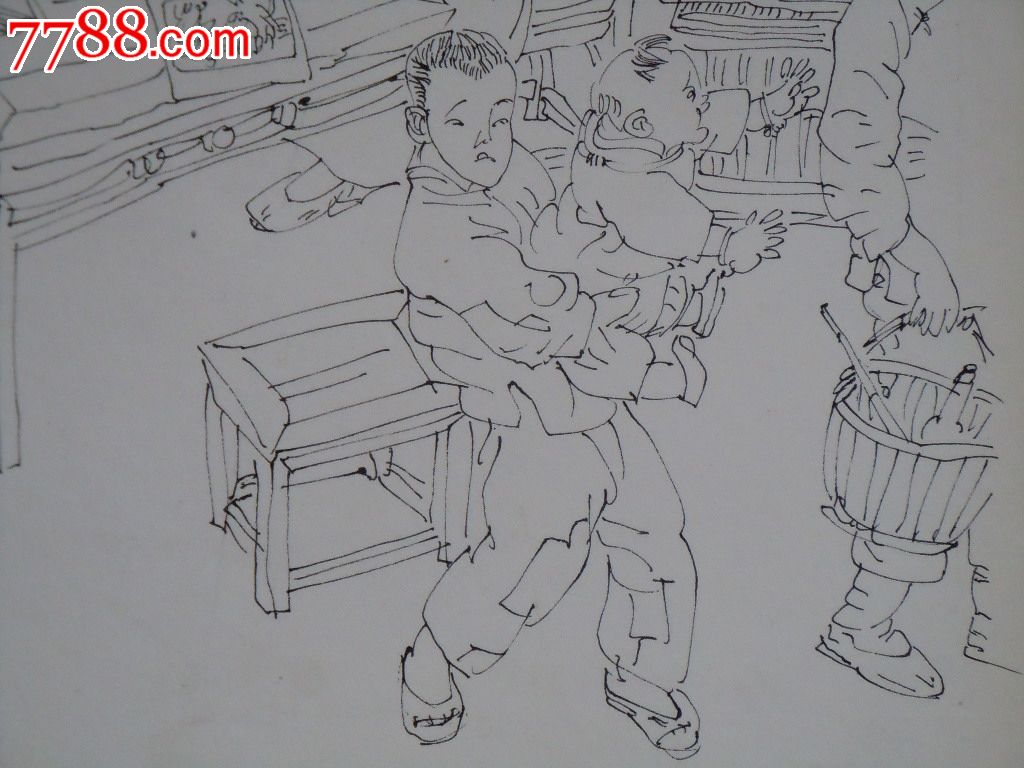 老上海民俗画作