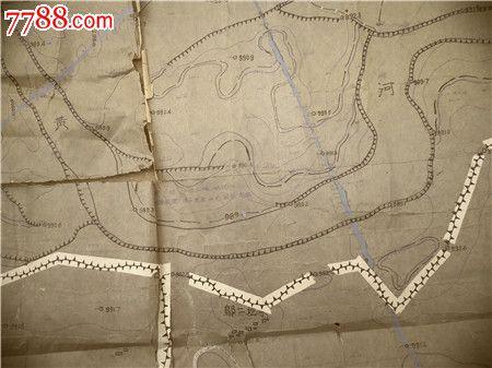 【2】1959年黄河水利委员会手工绘制地图,比全开大的多