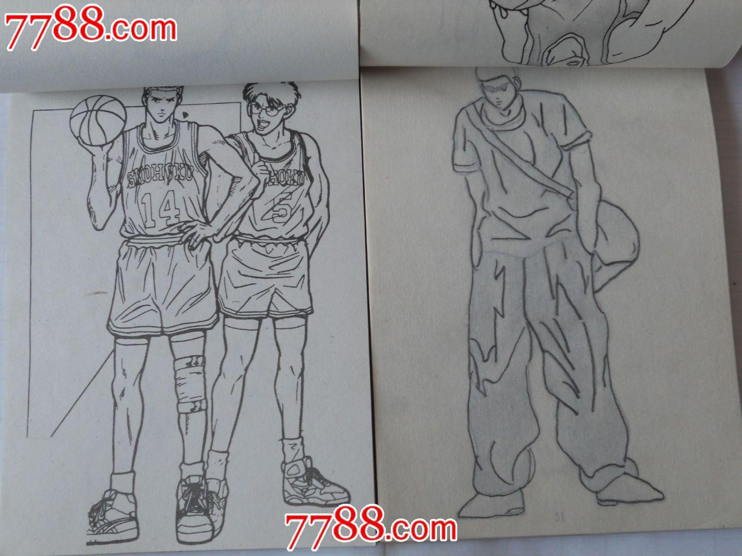 篮球飞人简笔画