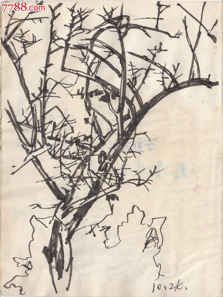 原画稿】冬天的树木·70