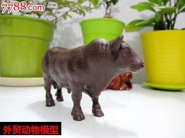 德国思乐schleich正品散货动物模型牛棕色牛白模素模