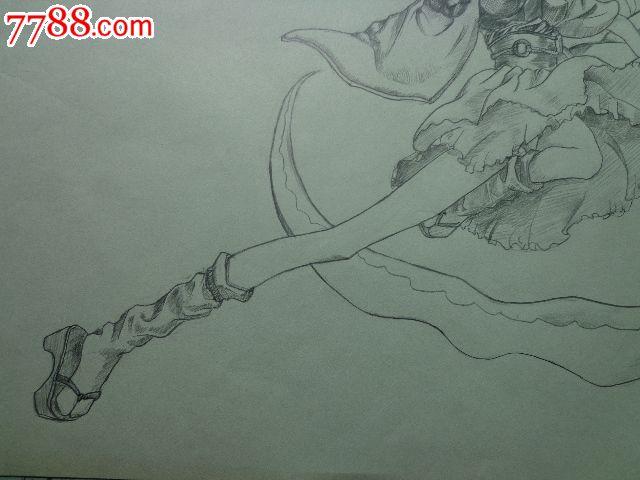 动漫人物铅笔画 素描 速写 朝阳收藏社