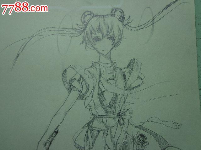 动漫人物铅笔画_价格28元【朝阳收藏社】