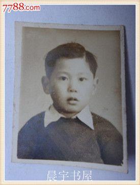 民国黑白老照片小男孩宝宝留影一张(货号:v-2)
