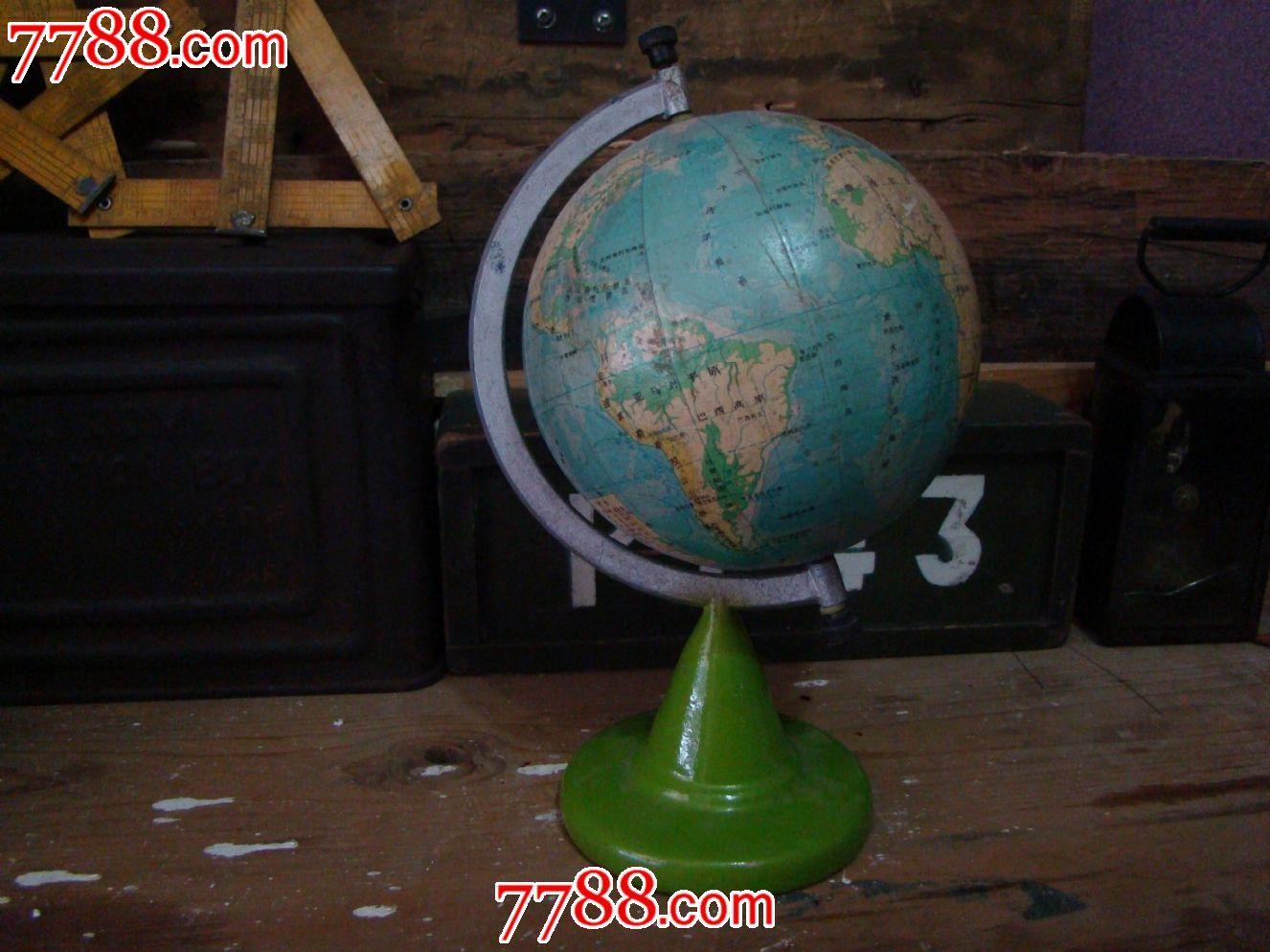 铸铁底老地球仪图片