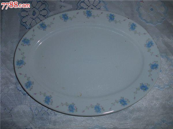 大椭圆瓷盘子1个
