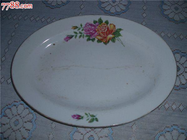 椭圆大瓷盘子1个
