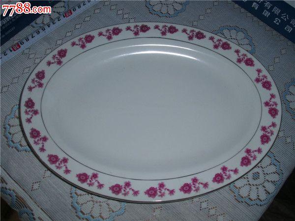 好品椭圆大瓷盘子超大漂亮瓷盘子