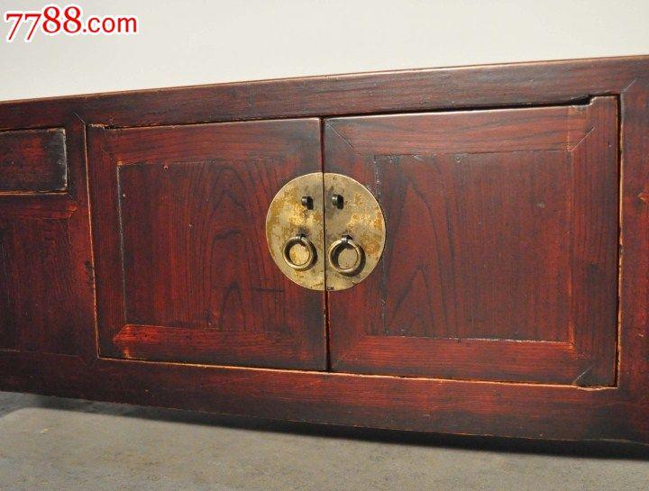 明清中式/古董收藏/老实木矮小姐柜子老榆木低地柜