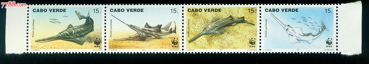 栉齿锯鳐(wwf世界野生动物保护基金会)新票4全