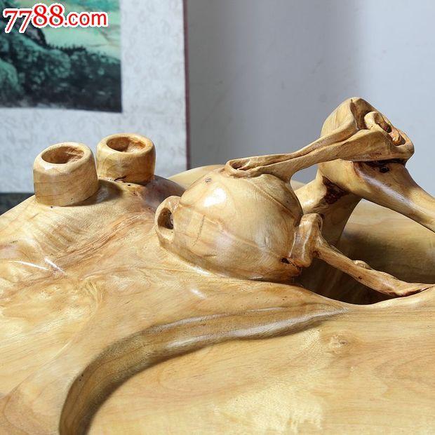 宜居品阁木雕根雕实木小桌香楠木根艺小茶台小茶桌ywd