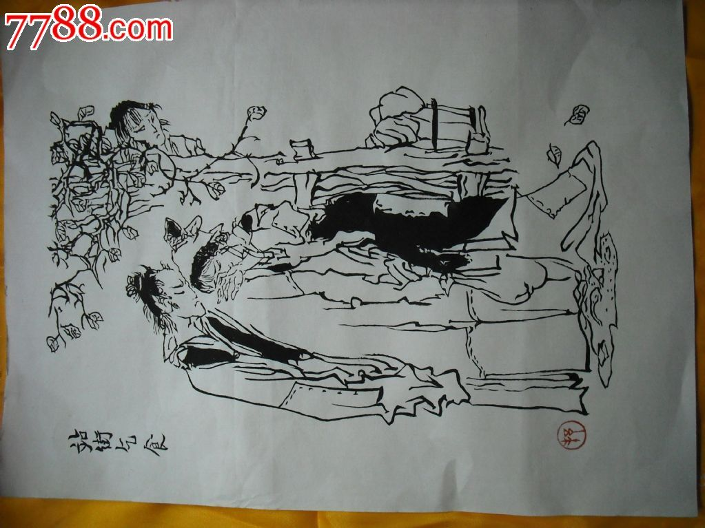 老重庆壁画线描墙绘