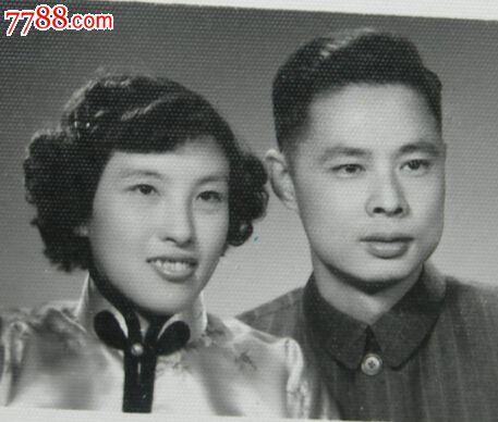 美女帅哥结婚照 上海光艺照相馆【老照片】