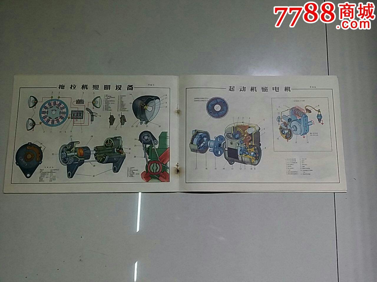 东方红一54拖拉机结构图册