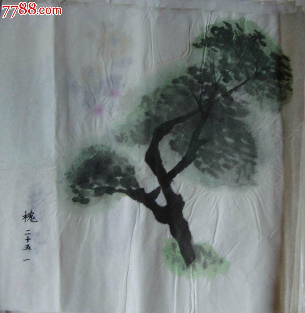【水彩画-原画稿】槐树_价格1元_第1张_中国收藏热线