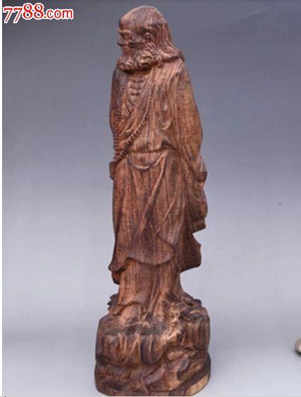 天然越南沉香木雕刻摆件达摩佛像22cm_价格85元【新疆火花】_第2张_中