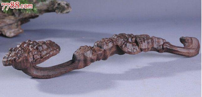天然越南沉香木雕刻摆件灵芝如意38cm_价格元_第1张_7788收藏__中国