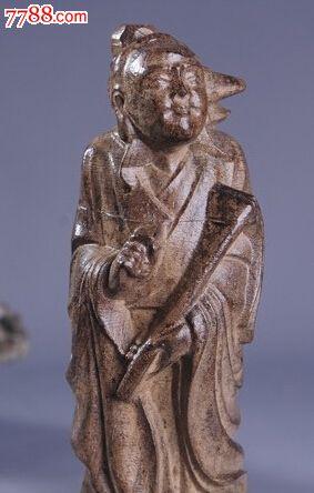 天然越南沉香木雕刻摆件八仙过海雕塑像8个一套18厘米