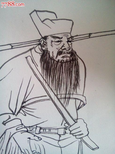 单页线描《曹操》-价格:30元-se24932333-连环画/小人
