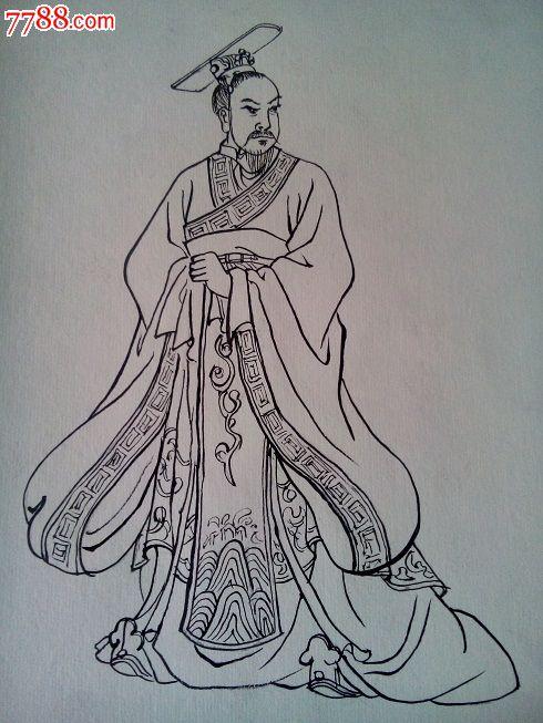 单页线描《刘邦》-价格:20元-se24935968-连环画/小人