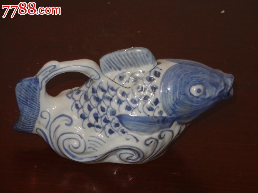 陶瓷酒瓶收藏/手绘鱼酒壶/动物酒具收藏