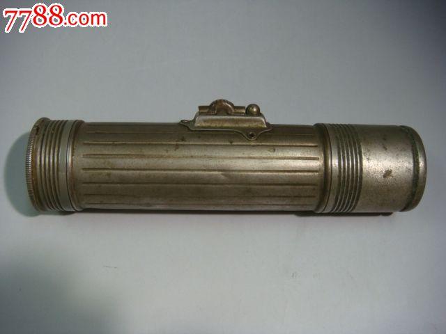 老物件英国老式旧手电筒