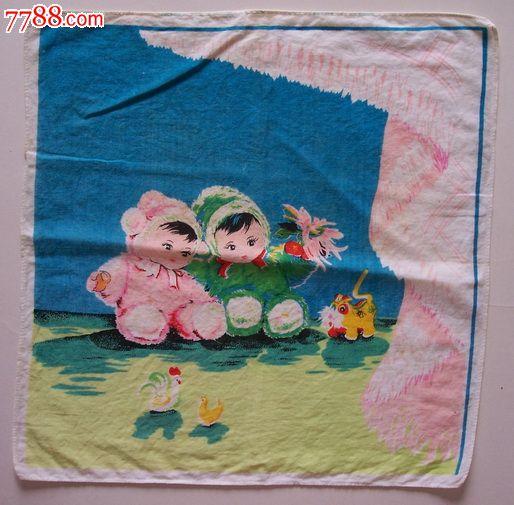 品种: 手帕/手绢-手帕/手绢 属性: 棉制,,印花,,77-79年,,正方形