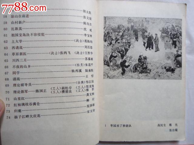 1974年全国美术作品展览-中国画油画目录图片