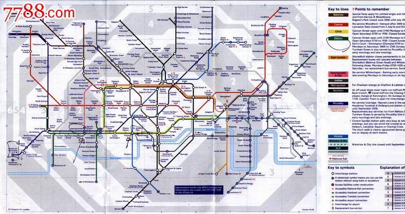 2005年版英国伦敦地铁线路图图片