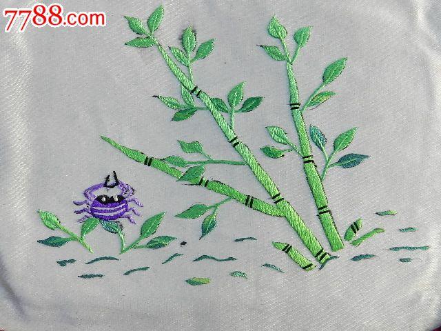 【梅花蓝底.竹子螃蟹白底图枕头套2263】山西