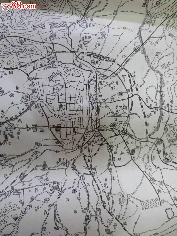 昆明市郊区地图_价格100元【七彩云南】_第2张_中国收藏热线
