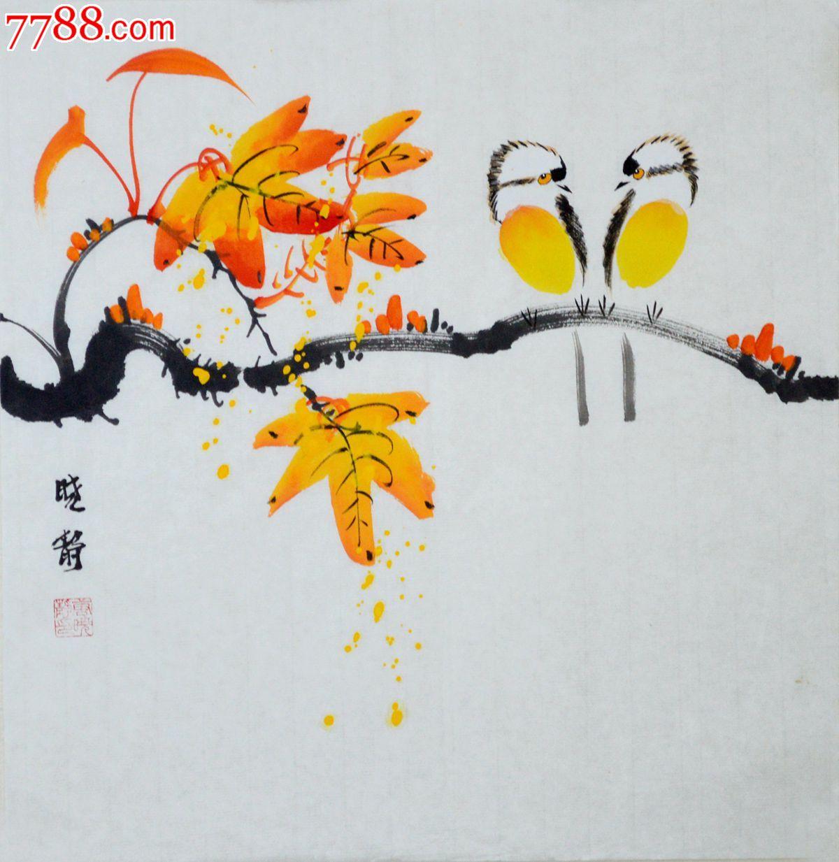 编号: se24840385,hn0893 品种: 花鸟国画原作-花鸟国画原作 属性
