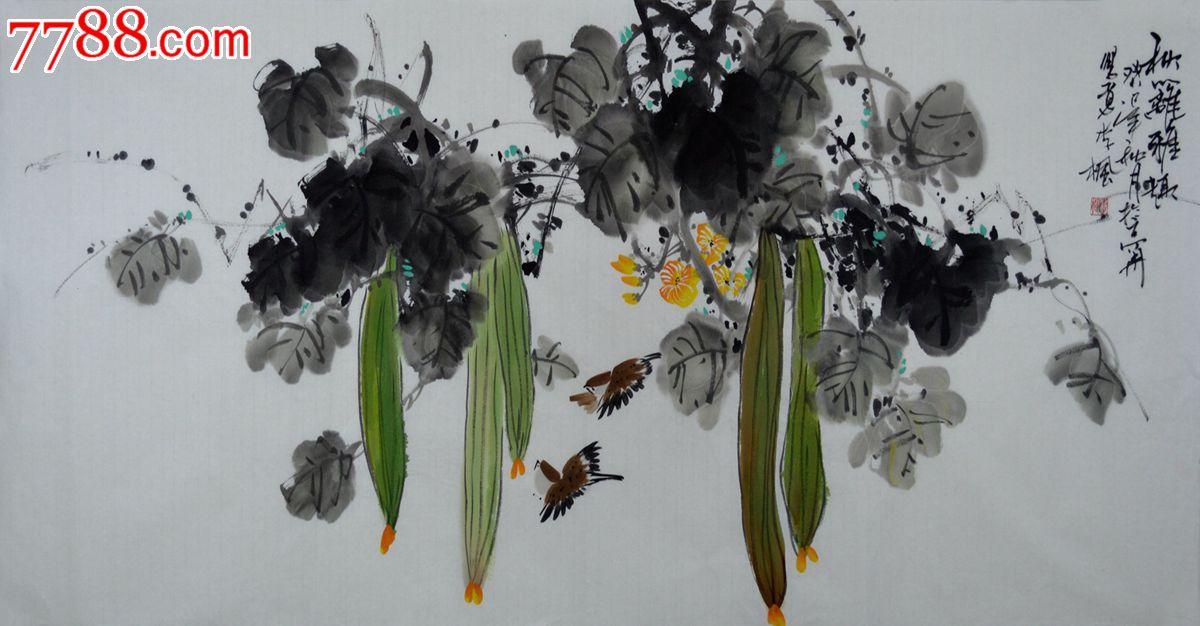 hn1002 品种: 花鸟国画原作-花鸟国画原作 属性: 花卉画原画,,水墨